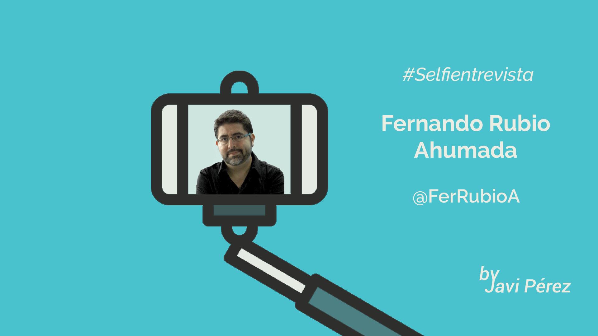 Twitter selfie entrevista a Fernando Rubio