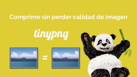 tinypng. Comprime sin perder calidad de imagen